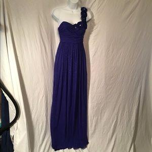 Jewel blue prom/formal dress, EUC, sparkly chiffon